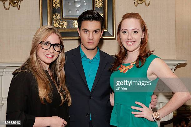 Guest Kevin Michael Barba and actress Liz Byrne attend the Alvin Valley S/S 2014 New York Trunk Show on October 23 2013 in New York City