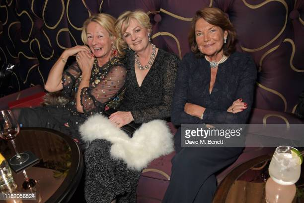 guest Lady Madeleine Lloyd Webber and Antoinette Oppenheimer attend The 29th Cartier Racing Awards at The Dorchester on November 12 2019 in London...