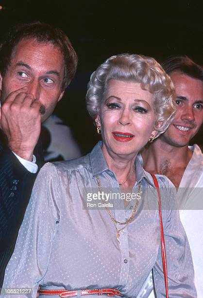 Guest Lana Turner and guest during Oh Calcutta Party July 11 1980 at Edison Theater in New York City New York United States