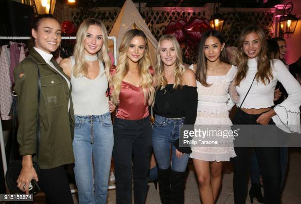 Guest Lauren Bushnell Amanda Stanton Whitney Janelle Young guest and Katie Austin attend Victoria's Secret Ultimate Girls Night In with Angels...