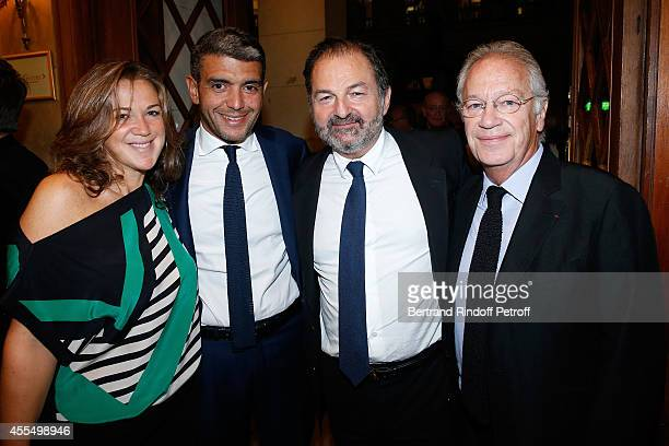 Guest Lawyer Ramzi Khiroun President of Lagardere Active Denis Olivennes and Stage director Bernard Murat attend 'Un diner d'adieu' Premiere Held at...