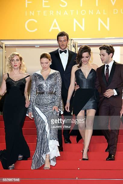 Guest Lea Seydoux Gaspard Ulliel Marion Cotillard Xavier Dolan attend the 'It's Only The End Of The World ' Premiere during the 69th annual Cannes...