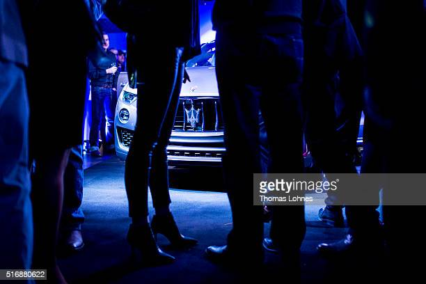 Guest look at the new Maserati Levante at 'Klassikstadt' on March 21 2016 in Frankfurt am Main Germany