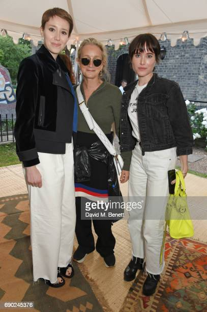 Guest Lucinda Chambers and Julia Hobbs attend the ALEXACHUNG London Launch Summer 17 Collection Reveal at the Danish Church of Saint Katharine on May...