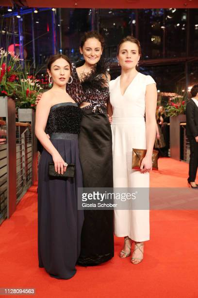 Guest Mala Emde and Lea van Acken attend the The Kindness Of Strangers premiere during the 69th Berlinale International Film Festival Berlin at...