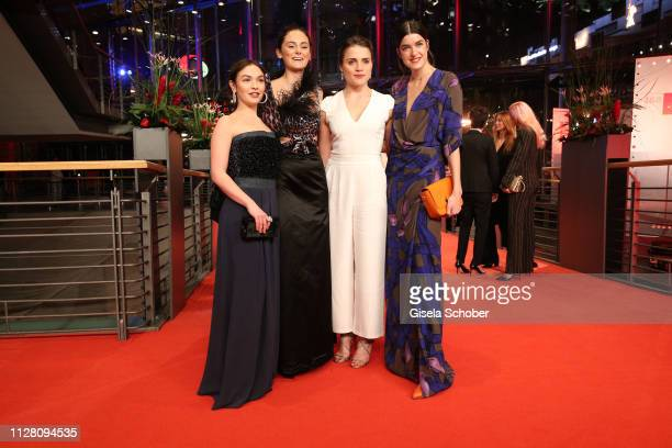Guest Mala Emde Lea van Acken and Marie Nasemann attend the The Kindness Of Strangers premiere during the 69th Berlinale International Film Festival...