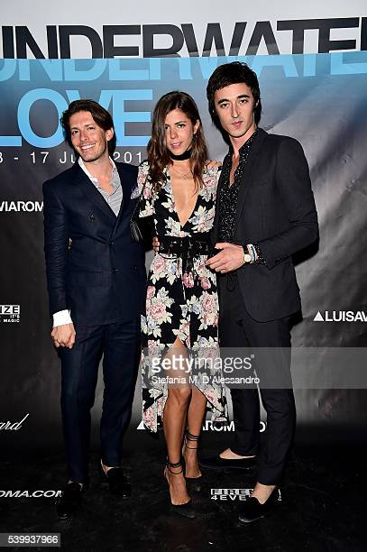 Guest Maria Sole Cecchi and Daniele Cavalli attend the Underwater Love Party at Firenze4ever 13th Edition hosted by LuisaViaRoma during Pitti 90 on...