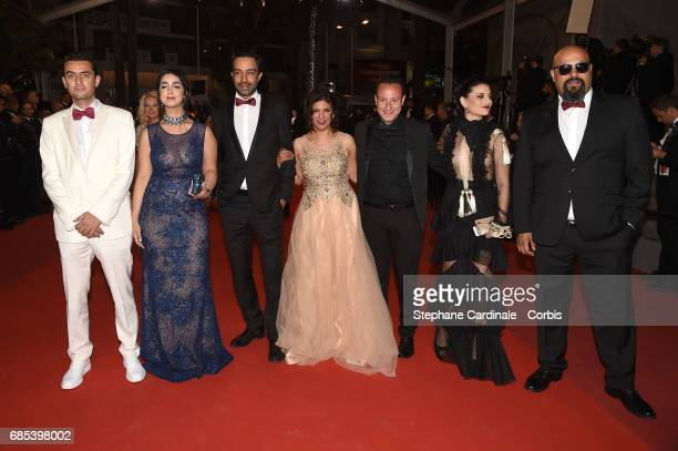 Guest Mariam Al Ferjani Ghanem Zrelli director Kaouther Ben Hania producer Habib Attia actors Anissa Daoud and Chedly Arfaoui from the movie 'Alaka...