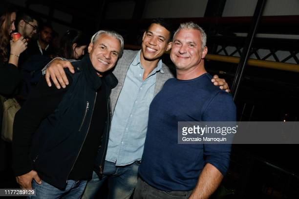 Guest Mario Mercado and Shane McMahon attend New Lab Annual Open House Party at New Lab on October 19 2019 in Brooklyn NY