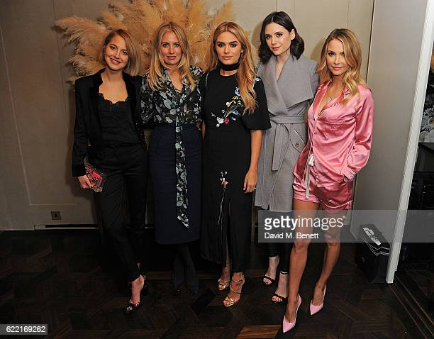 Guest Marissa Montgomery Chloe Lloyds Lilah Parsons and Sophie Hermann attend 5 Years of Gazelli SkinCare on November 10 2016 in London England