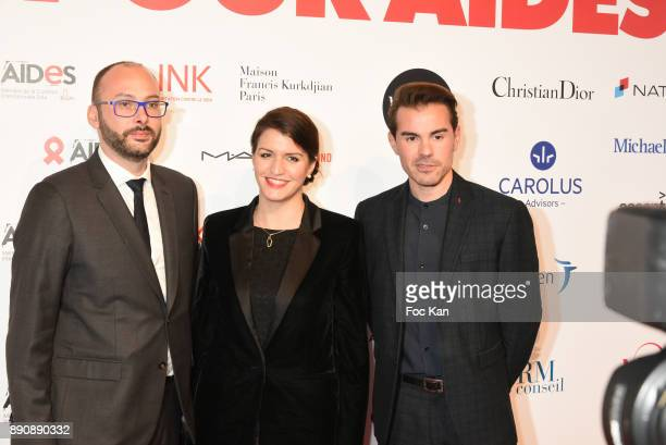A guest Marlene Schiappa and Aurelien Beaucampattend Link Pour Aides Charity Dinner at Pavillon Cambon on December 11 2017 in Paris France
