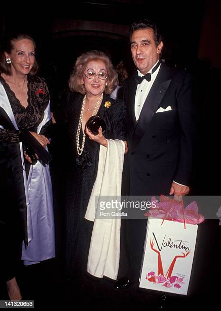 guest Marta Ornelas and Placido Domingo at the ValentinoThirty Years of Magic Gala Retrospective 67th Street Armory New York City