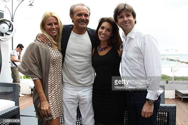 Guest, Mauro Masi, Arianna Martina Bergamaschi and Francois Olivier attend the Lancia Cafe during the 67th Venice International Film Festival on...