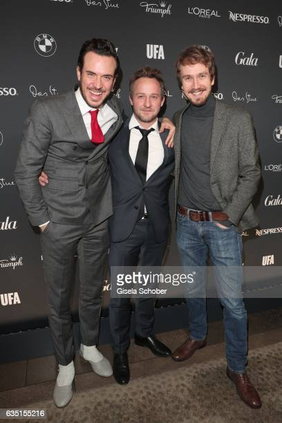 A guest Maximilian Brueckner and Jan Krauter during the Berlin Opening Night by GALA and UFA Fiction at hotel 'The Stue' on February 9 2017 in Berlin...