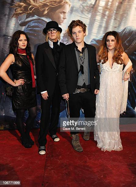 Guest Michael Lockwood Ben Keough and Lisa Marie Presley attend the World Premiere of Harry Potter And The Deathly Hallows Part 1 at Odeon Leicester...