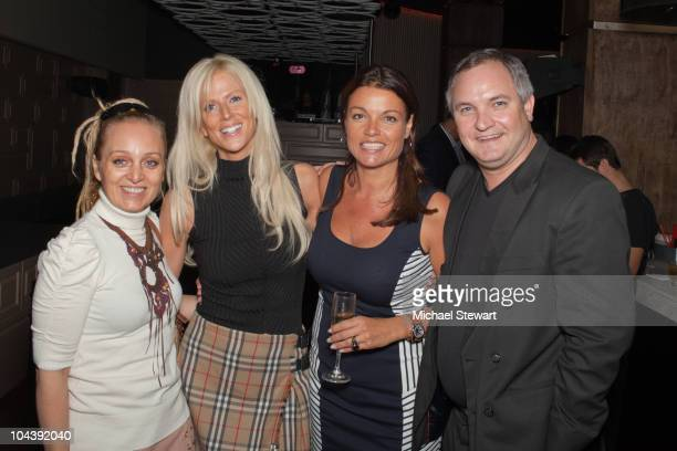 """Guest, Michaele Salahi, Former Miss Belgium Goedele Liekens and Tareq Salahi attend """"The Real Housewives Of D.C."""" viewing party at La Pomme on..."""