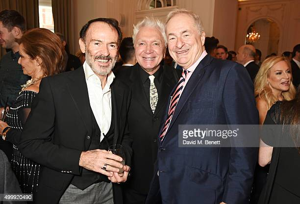Guest, Mike Hewitson and Paul Gambaccini attend the Winq Magazine Men of the Year lunch to benefit the Elton John Aids Foundation at The Mandarin...