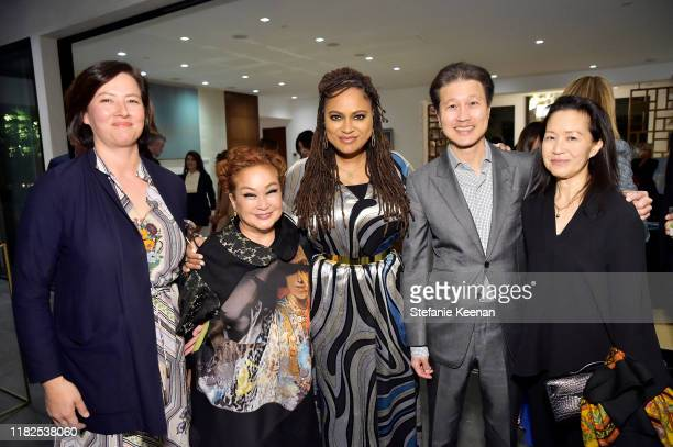 A guest Miky Lee Ava DuVernay Dominic Ng and Ellen Ng attend Academy Museum of Motion Pictures Celebrates Architect Renzo Piano Hosted by Bob Iger at...