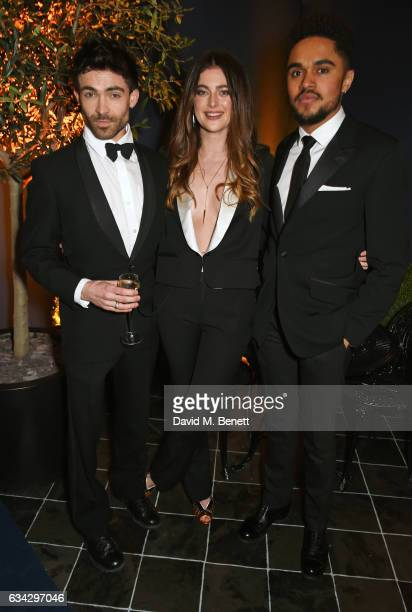 Guest Millie Brady and Josh Williams attend the dunhill and Dylan Jones preBAFTA dinner and cocktail reception celebrating Gentlemen in Film at...