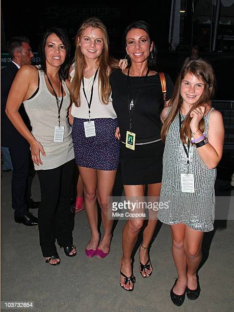 Guest model Christine Staub television personality Danielle Staub and Jillian Staub attend The Sorcerer's Apprentice New York premiere performance in...