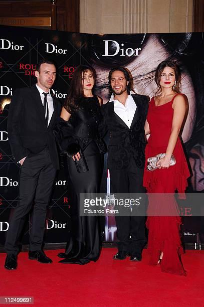 Guest, Monica Bellucci, the dancer Joaquin Cortes and his girlfriend Marisa Jara