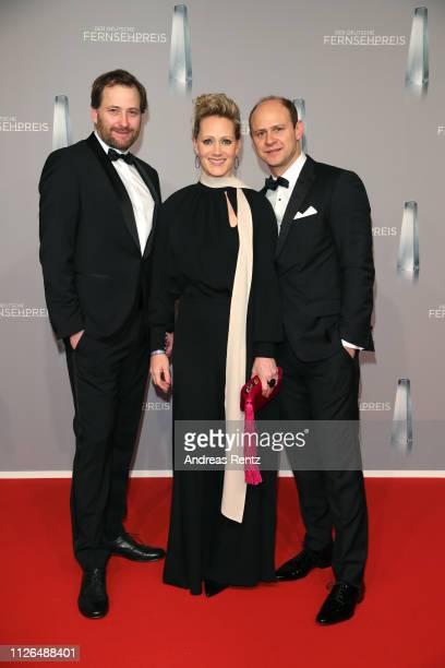 Guest, Moritz Führmann and Anna Schudt attend the German Television Award at Rheinterrasse on January 31, 2019 in Duesseldorf, Germany.