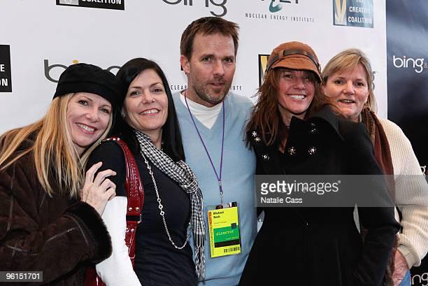 Guest Mormauren Nash Director Michael Nash Blaze Nash and Maribeth Nash attend the Climate Change Refugees panel during the 2010 Film Festival at...
