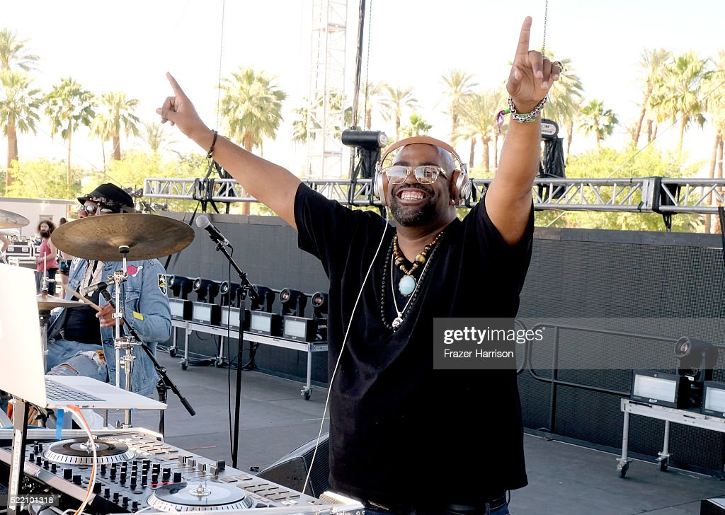 Guest musician DJ Battlecat performs onstage with Kamasi Washington during day 3 of the 2016 Coachella Valley Music And Arts Festival Weekend 1 at the Empire Polo Club on April 17, 2016 in Indio, California.