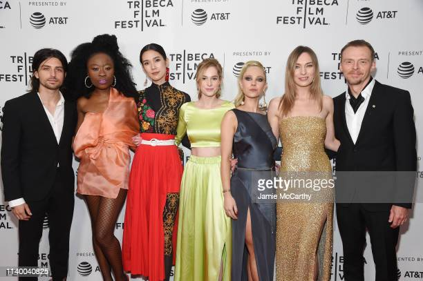 """Guest, Nana Ghana, Tao Okamoto, Daisy Bishop, Juno Temple, Katharine O'Brien and Simon Pegg attend the """"Lost Transmissions"""" screening during the 2019..."""