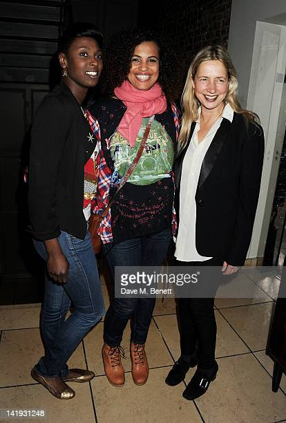 Guest Neneh Cherry and Iwona Blazwick attend an after party for 'A Memory A Monologue A Rant And A Prayer' a onenight only performance produced by...