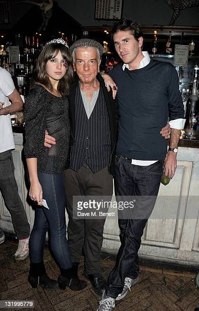 Guest Nicky Haslam and Otis Ferry attend the Alice Olivia Black Tie Carnival hosted by designer Stacey Bendet at Paradise by Way of Kensal Green on...