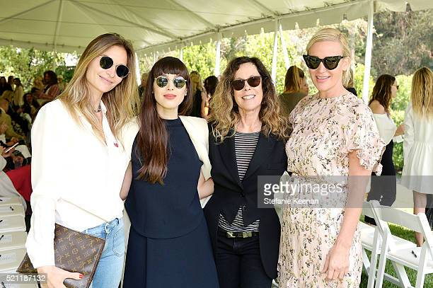 Guest Nicole Simone Carrie O'Dell and Ali Taekma attend Annual HEART Brunch Featuring Stella McCartney on April 14 2016 in Los Angeles California