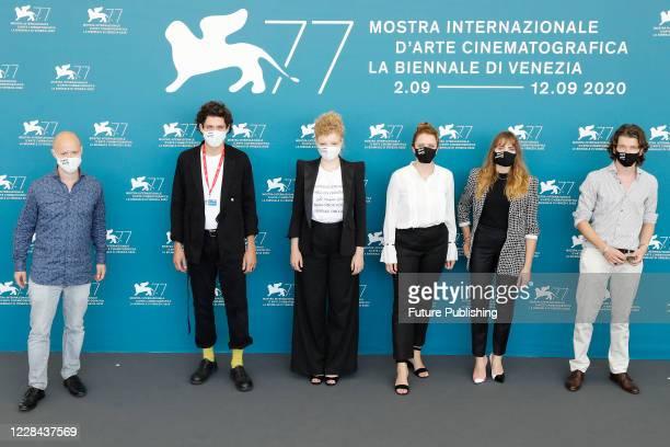 Guest Noah Saavedra LuisaCeline Gaffron Julia von Heinz Mala Emde Tonio Schneider attends the photocall of 'Und Morgen Die Ganze Welt And Tomorrow...