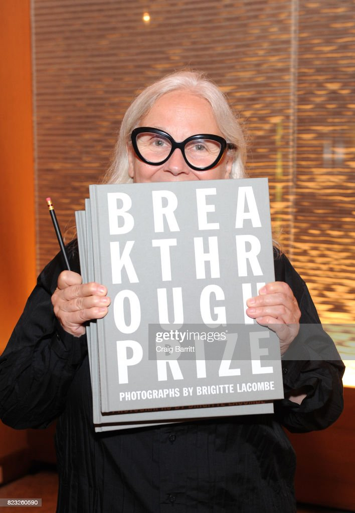 Guest of Honor Brigitte Lacombe attends Breakthrough Prize Foundation event honoring photographer Brigitte Lacombe at Le Bernardin Prive on July 26, 2017 in New York City.