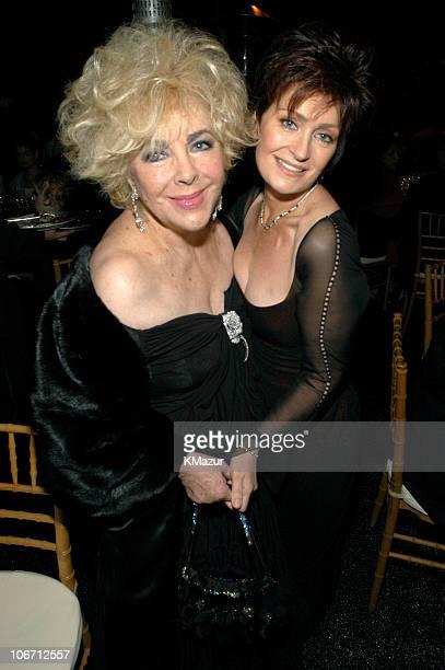 Guest of honor Dame Elizabeth Taylor and Sharon Osbourne