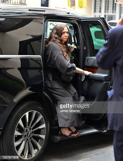 Guest of Melinda Gates seen on the streets of Manhattan on July 08, 2021 in New York City.