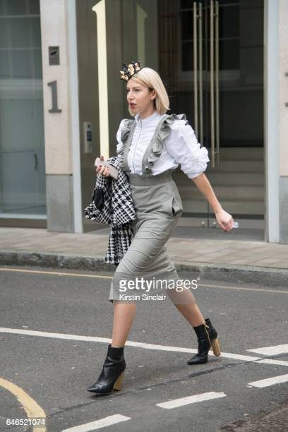 A guest on day 2 of London Womens Fashion Week Autumn/Winter 2017 on February 18 2017 in London England