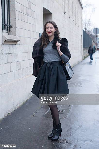 Guest on day 2 of Paris Haute Couture Fashion Week Spring/Summer 2015 on January 26 2015 in Paris France