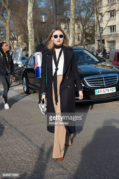 A guest on day 2 of Paris Haute Couture Fashion Week Spring/Summer 2016 on January 25 2015 in Paris France