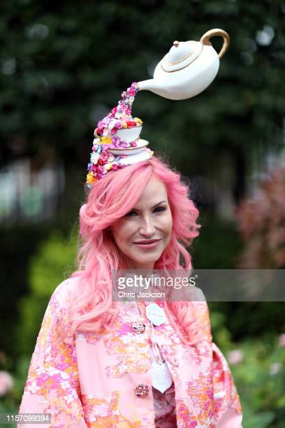 Guest on day three, Ladies Day, of Royal Ascot at Ascot Racecourse on June 20, 2019 in Ascot, England.