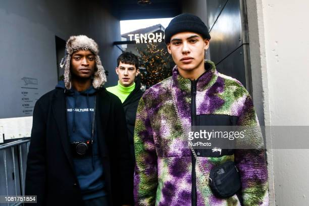 Guest outside of the John Richmond fashion show during the Milan Fashion Week on January 13 2019