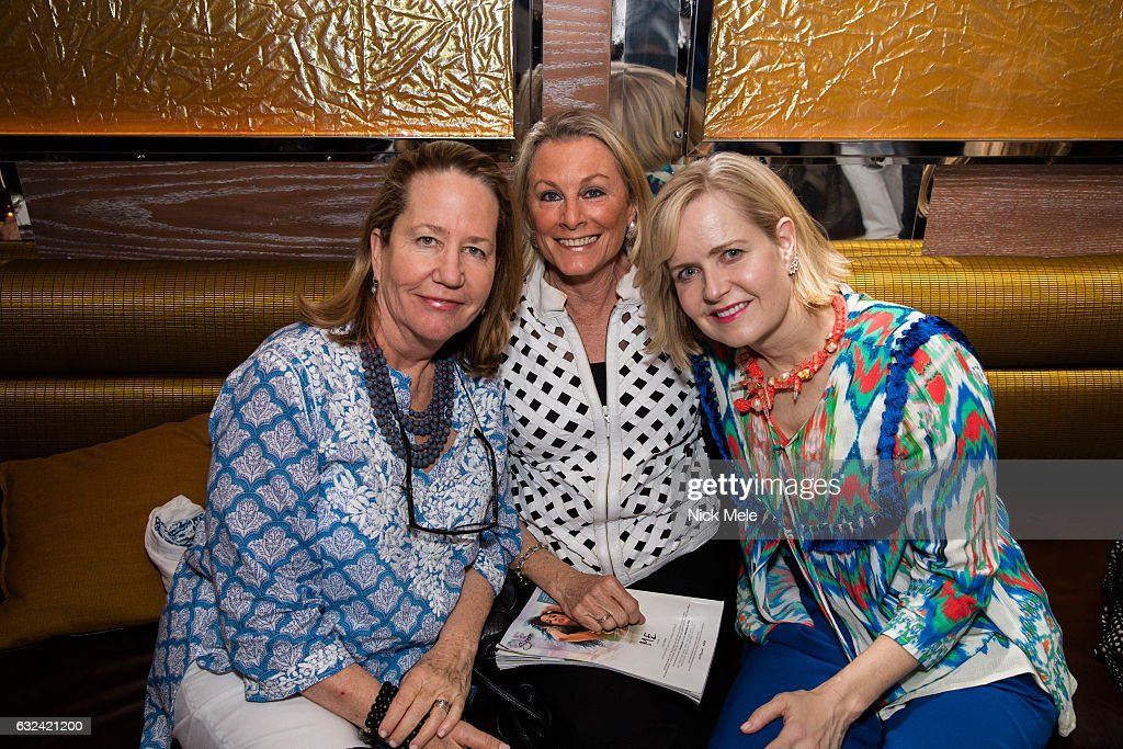 Guest, Pam Slotkin and Kara Ross attend AVENUE Celebrates Kara Ross and the Palm Beach A List at Meat Market Palm Beach on January 19, 2017 in Palm Beach, FL.