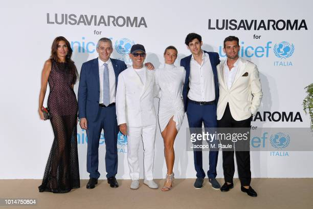 Guest Paolo Rozera Andrea Panconesi Annagreta Panconesi Nicolaus Panconesi and Tommaso Chiabra attend a photocall for the Unicef Summer Gala...