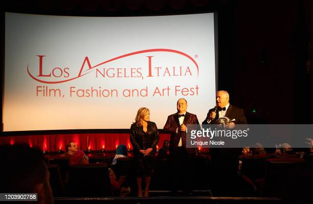 A guest Pascal Vicedomini and Academy Award winner Nick Vallelonga present the 2020 Los Angeles Italia Film Fashion And Art Festival Global Fashion...
