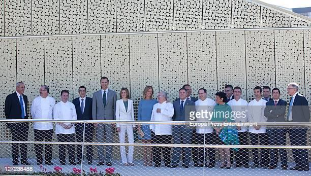 A guest Pedro Subijana Martin Berasategui Patxi Lopez Prince Felipe Princess Letizia Cristina Garmendia Juan Mari Arzak Andoni Luis Aduriz and Eneko...