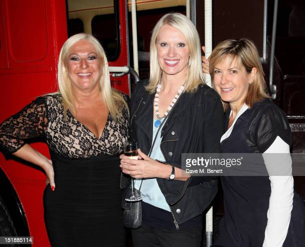Guest performers Vanessa Feltz Anneka Rice and Penny Smith attend an after party celebrating the Mamma Mia Gala Performance in support of BBC...