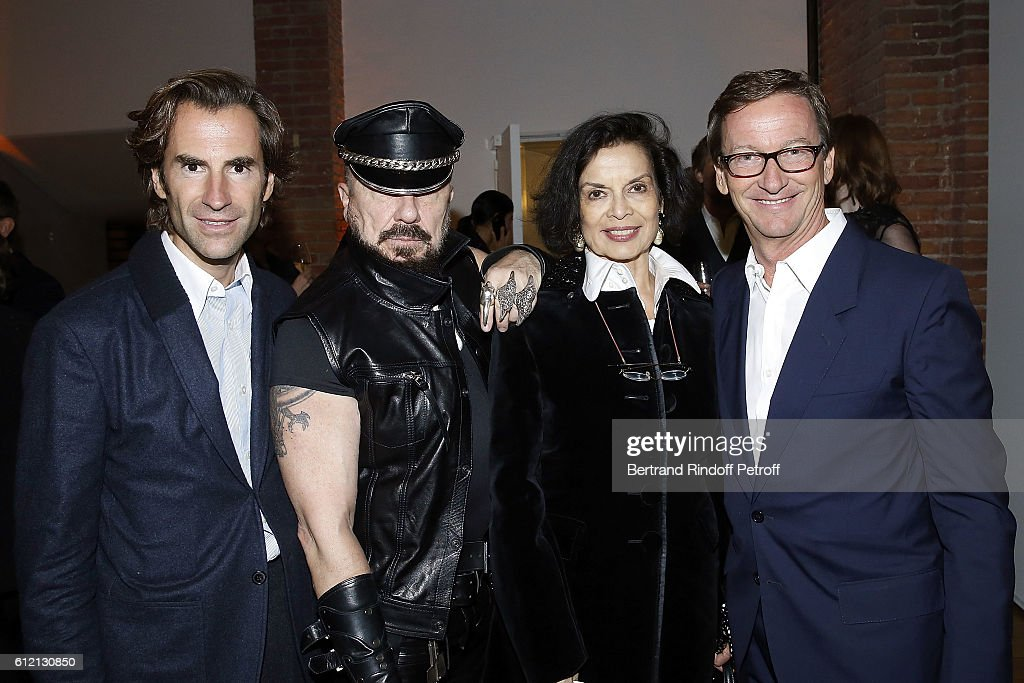Guest, Peter Marino, Bianca Jagger and Thaddaeus Ropac attends the private Dinner hosted by Surface Magazine And Azzedine Alaia Private Dinner as part of Paris Fashion Week Spring/Summer 2017on October 2, 2016 in Paris, France.