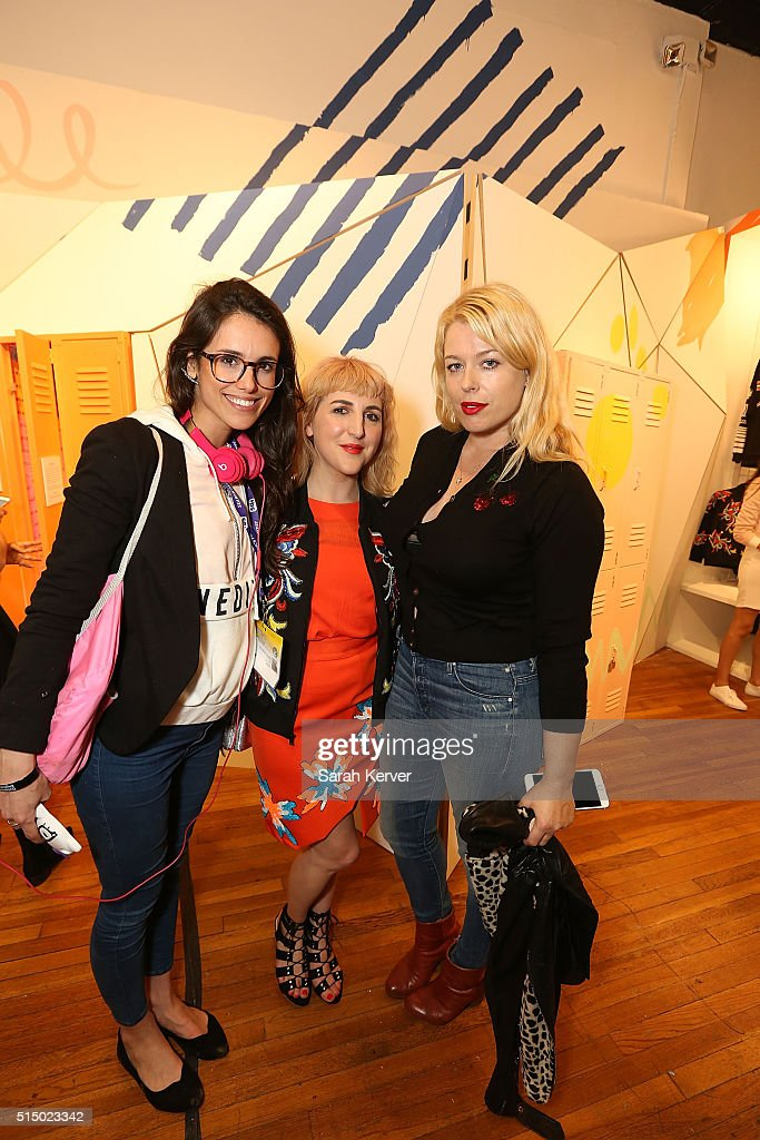 A guest, Piera Gelardi and Amanda De Cadenet attend Refinery29's School of Self Expression opening night party presented by Neiman Marcus during SXSW on March 11, 2016 in Austin, Texas.