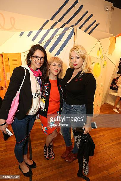 A guest Piera Gelardi and Amanda De Cadenet attend Refinery29's School of Self Expression opening night party presented by Neiman Marcus during SXSW...