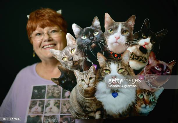 A guest poses at CatCon Worldwide 2018 at Pasadena Convention Center on August 4 2018 in Pasadena California